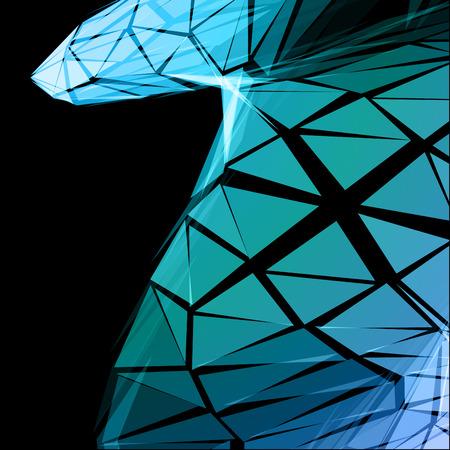 triangular: Turquoise Triangular Abstract Vector Background Illustration