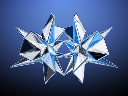 Polygonal Mirorring Abstract Design