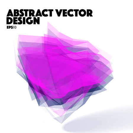 Violet Abstract Vector Design Element
