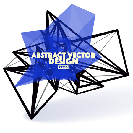 apex: Low Poly Abstract Vector Design Element with Connection Lines