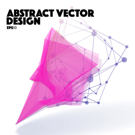 apex: Abstract Vector Design Element. Connection Lines with Dots