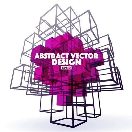 Geometric Abstract Vector Design Element Illustration