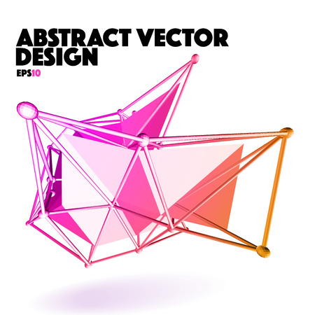 Low Poly Abstract Vector Design Element