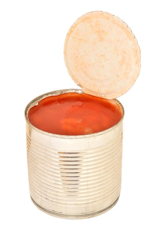 Opened a tin of beans in tomato sauce photo