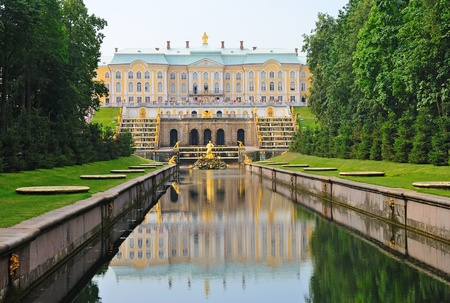 View of the Palace in Peterhof, Russia