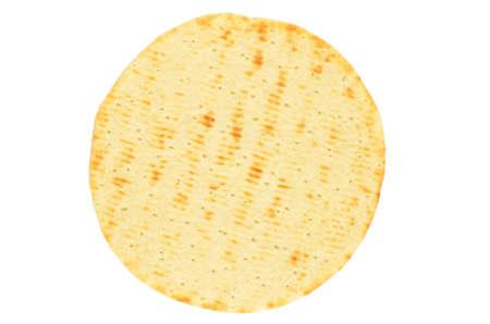 Pita bread isolated on white background photo