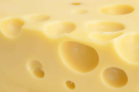 Close up the cheese with holes