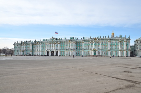 The Winter Palace on Palace Square in St  Petersburg, Russia Stock Photo - 13047276