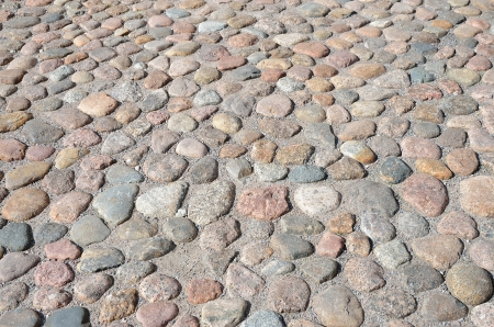 Old road paved with the cobblestones photo