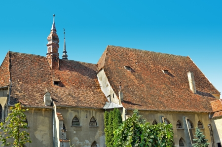 Antigua casa histórica medieval de Sighisoara, Transilvania, Rumanía Foto de archivo - 15347034