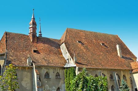 Antigua casa hist�rica medieval de Sighisoara, Transilvania, Ruman�a Foto de archivo - 15347034