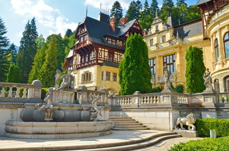 SINAIA, ROMANIA AUGUST 1: Peles castle on August 01, 2012 in Sinaia, Romania. Was built between 1873 and 1914. The castle has 170 rooms, out of which only about 30 rooms can be visited by tourists. Stock Photo - 16745169