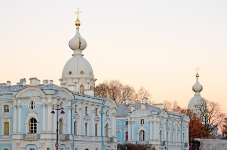 The Smolny Cathedral in Petersburg, Russia photo