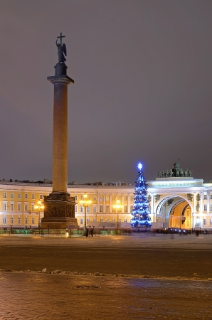 Palace square in St-Petersburg, Russia