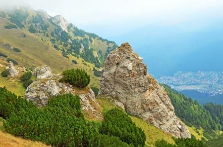 Beautiful summer landscape in the mountains of Transylvania, Romania Stock Photo - 17687496