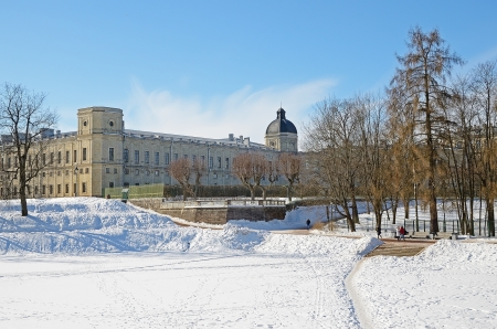 classicism: GATCHINA, RUSSIA - MARCH 13  The Great Gatchina Palace on March 13, 2013 in Gatchina, Russia  Was built in 1766-1781  Palace interiors are exemplary of Russian classicism of 18th-19th centuries