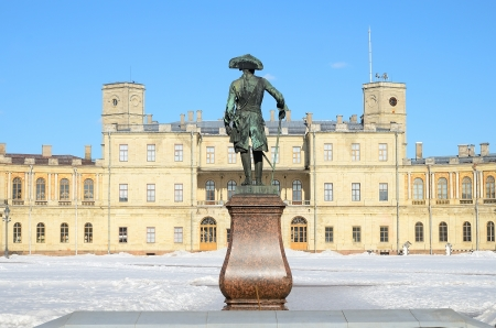 The Great Gatchina Palace in Gatchina, Russia.