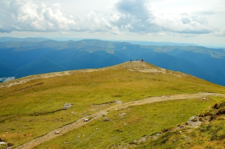 Carpathian mountains in a summer photo