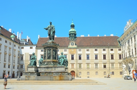 franz: VIENNA, AUSTRIA - JULY 28: Monument to emperor Franz II of Austria on July 28, 2013 in Vienna, Austria.  Located at the Hofburg Complex,  it was created in 1807. Editorial