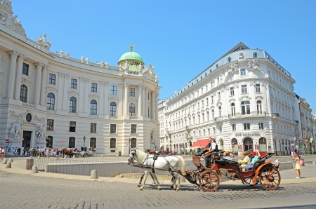 VIENNA, AUSTRIA - JULY 28: Hofburg palace on July 28, 2013 in Vienna, Austria. The Hofburg is the imperial palace of the Habsburg rulers in Vienna, consisting of over 2500 rooms.