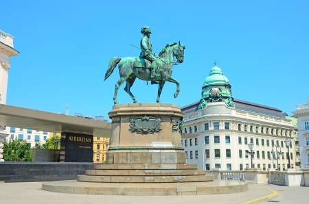 albrecht: VIENNA, AUSTRIA - JULY 28: Monument to Archduke Albrecht on July 28, 2013 in Vienna, Austria. It was established in the 19th century. Located near Albertina.