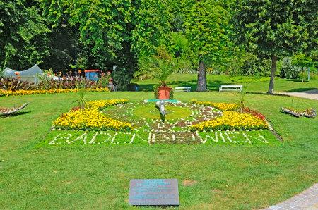 lanner: BADEN BEI WIEN, AUSTRIA JULY 29  View of Kurpark on July 29, 2013 in Baden bei Wien, Austria  Park is located in the center of Baden, was created in 1792  Editorial