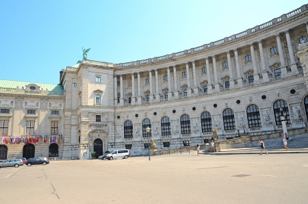 habsburg: VIENNA, AUSTRIA - JULY 28: Hofburg palace on July 28, 2013 in Vienna, Austria. The Hofburg is the imperial palace of the Habsburg rulers in Vienna, consisting of over 2500 rooms.