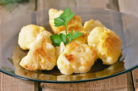 Cauliflower baked with egg, close up view Stock Photo - 31294866
