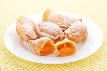 Cakes with apricots photo