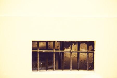 lattice window: Old window with a lattice in old building.