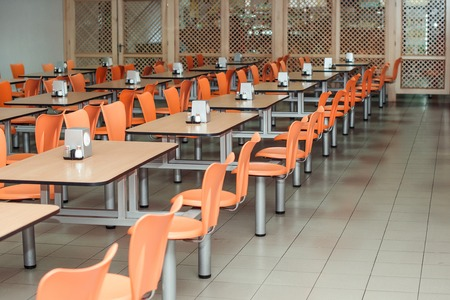 the interior of cafeteria or canteen, nobody Redactioneel