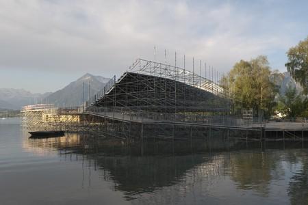 framework platform in morning Stock Photo - 7515478