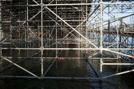 framework in lake Stock Photo - 7520415