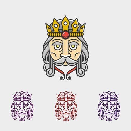 KING MONO-LINE DESIGN ILLUSTRATION