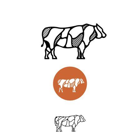 COW ILLUSTRATION LOGO
