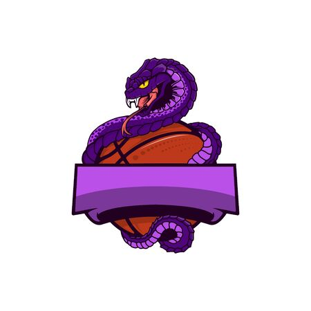 VIPER BASKETBALL MASCOT LOGO Stock Illustratie