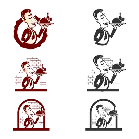 WAITER GUYS LOGO ILLUSTRATION 向量圖像