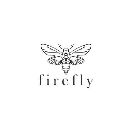 FIREFLY MONOLINE DESIGN  イラスト・ベクター素材