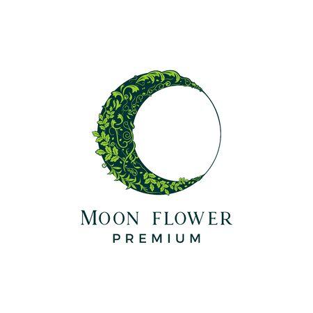 MOON FLOWER  イラスト・ベクター素材