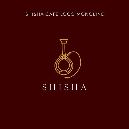 SHISHA MONOLINE LOGO