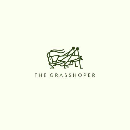 THE GRASSHOPER MONOLINE LOGO