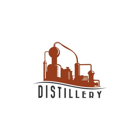 DISTILLERY LOGO ILLUSTRATION 向量圖像