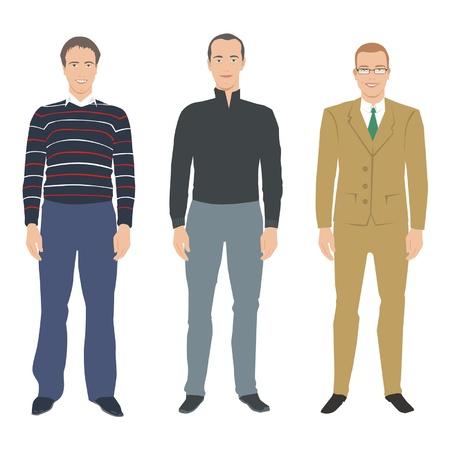 man standing: man