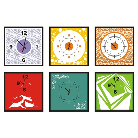 midday: collection of wall clock vector