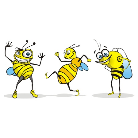 the antennae: Bee Cartoon Character