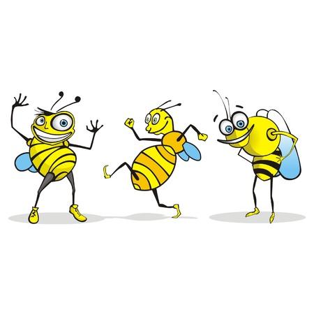 hive: Bee de dibujos animados
