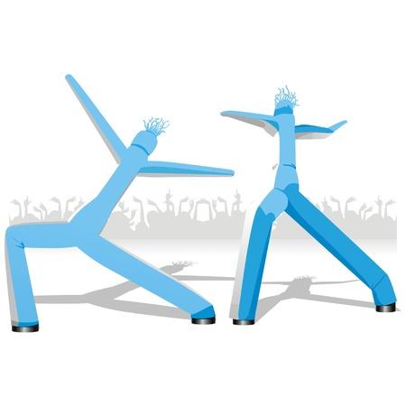 baile caricatura: maniquíes de baile Vectores