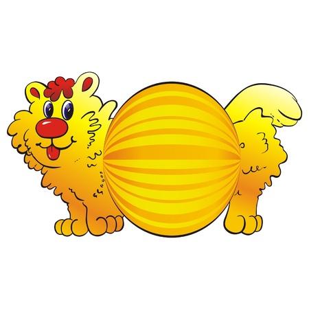 newyear: new-year toys cat Illustration