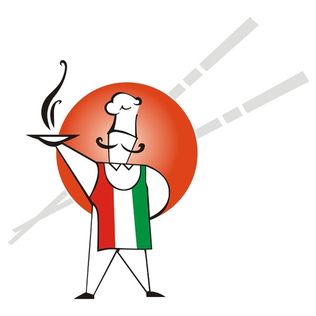 Italy is pizza Vector