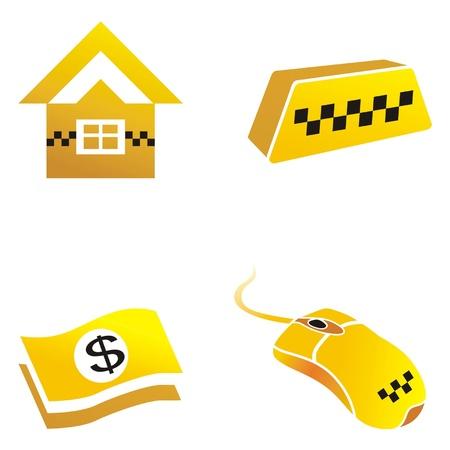 fare: icons are symbols of taxi vector illustration